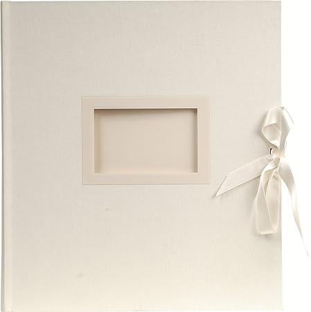 Exacompta 11154E Fotoalbum Kingsbridge (29 x 32 cm, 300 Fotos, 60 Seiten) weiß