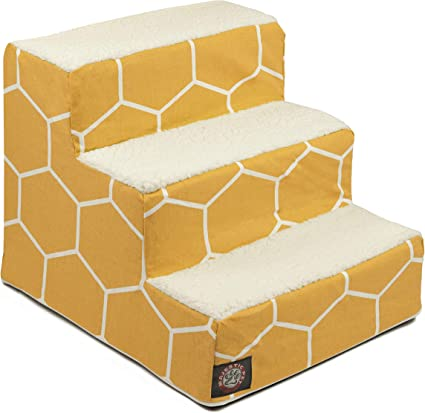Perfect for Bed /& Sofa Majestic Pet Portable Pet Stairs Steps for Dogs /& Cats Puppy /& Kitty Ramp Soft Sherpa Foam Feeling Step