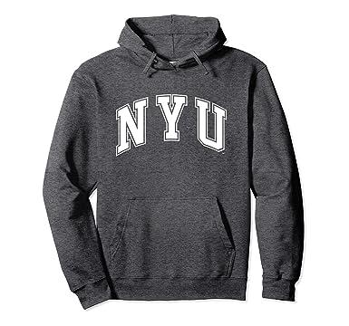 deb85e8996c Unisex New York University NYU NCAA Hoodie nyuv1002 2XL Dark Heather