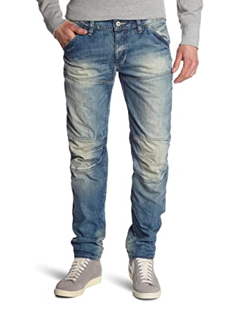 41d46912818 G-Star Men's Attacc Straight Fit Jeans - Blue (Light Aged), 31W x ...