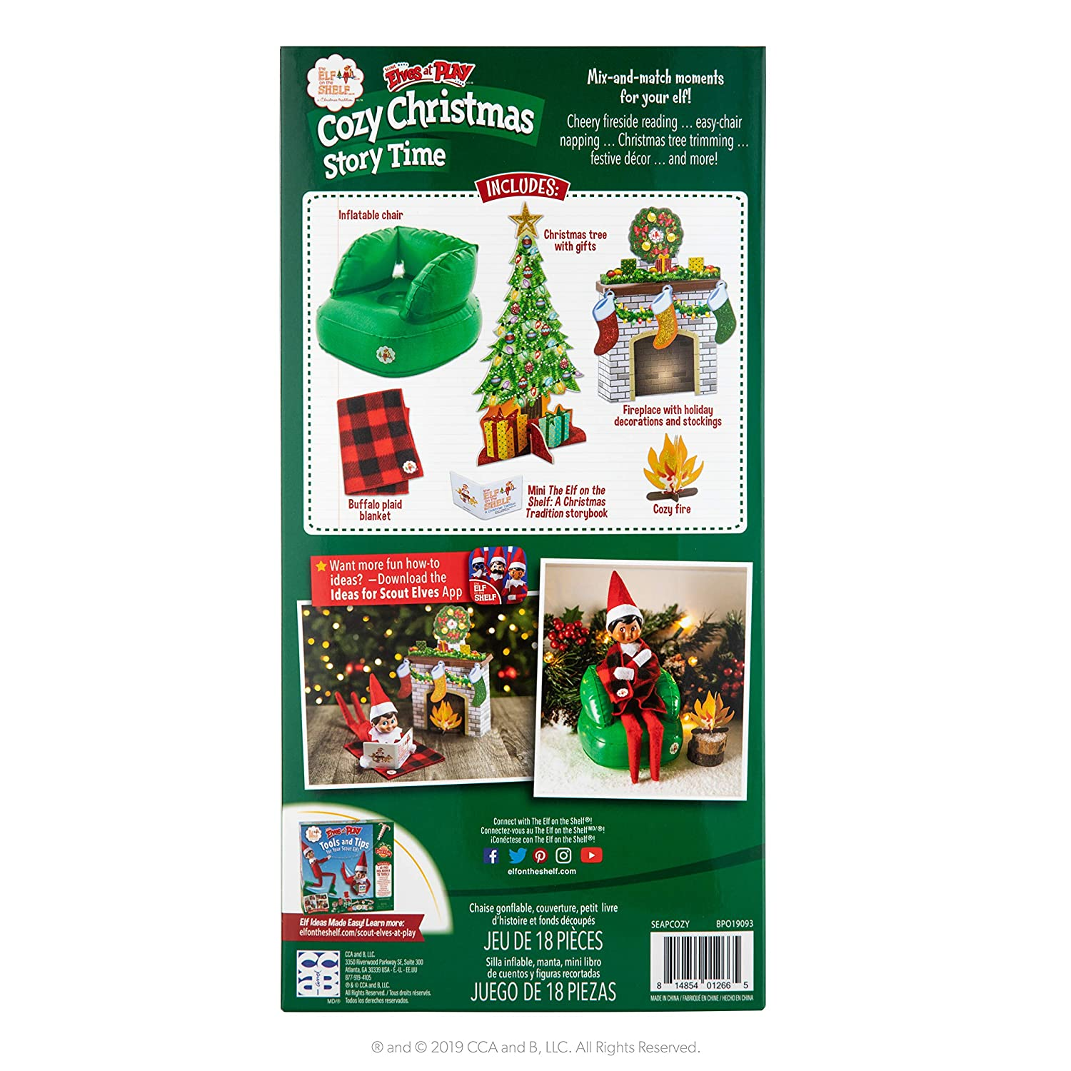 Elf on the shelf story telling cards christmas props childrens story writing toy
