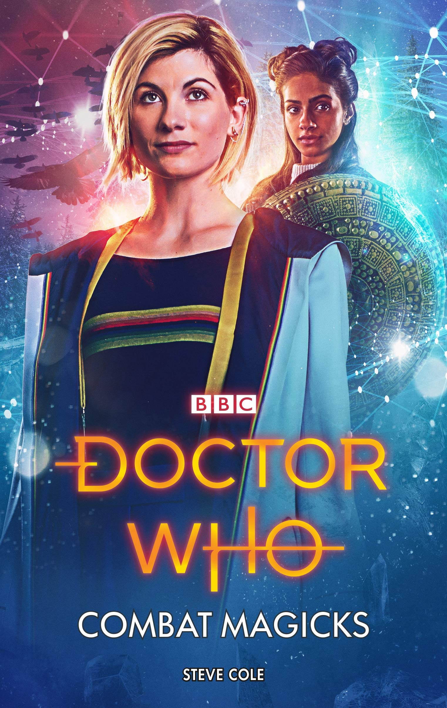"Cover of ""Combat Magicks"" featuring The Thirteenth Doctor and Yaz"