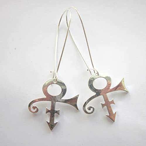 Prince Symbol Earrings By Gimme That Thing Silver Plated Nickel And