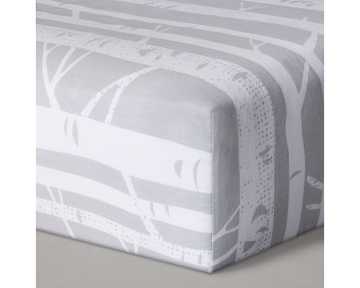 Cloud Island Fitted Crib Sheet Birch - Gray