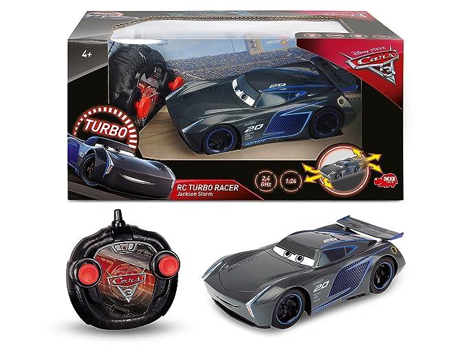 Amazon.com: Disney Cars 3 R/C 1:24 Final Race Jackon Strom Turbo Racer: Toys & Games