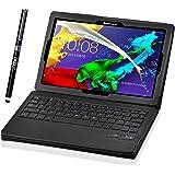 IVSO Lenovo Tab 2 A10/ Lenovo TAB-X103F Tab 10 Keyboard case -Ultra-Thin DETACHABLE Bluetooth Keyboard Stand Case for Lenovo Tab 2 A10-70/ Tab 3 10 Business TB3-X70/ TAB-X103F Tab 10 Tablet, Black
