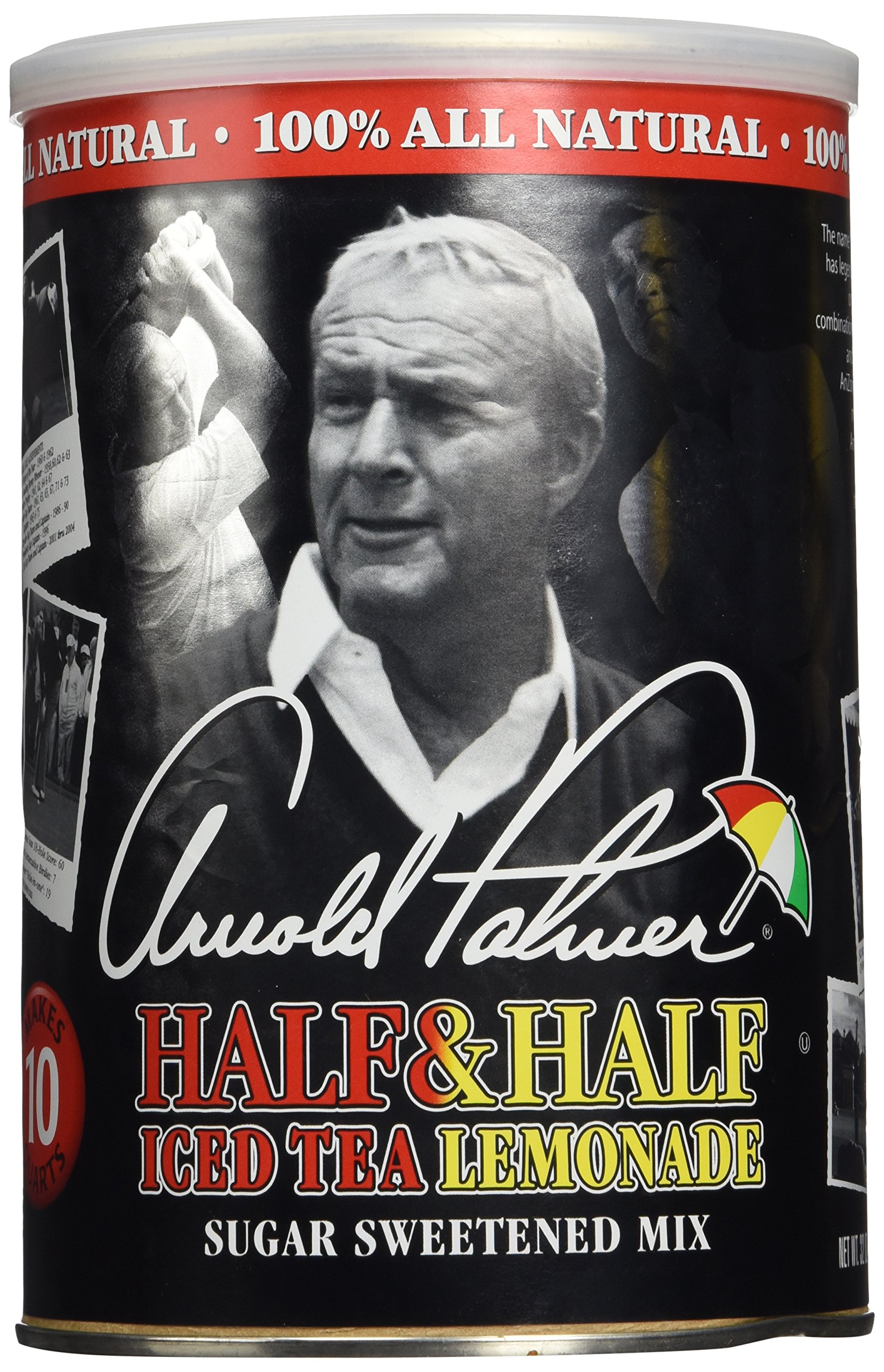 AriZona Arnold Palmer Half & Half Ice Tea Lemonade Drink Mix, (Makes 10 Quarts) 32 Ounce Canister (Pack of 2) by Arizona