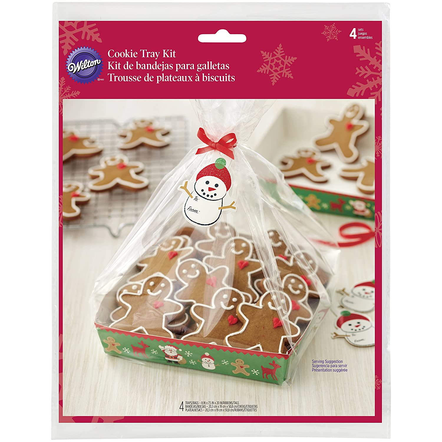 Amazon.com: Wilton 1912-2136 Merry Cookie Tray Kit - 4 count ...