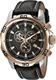 Joshua & Sons Men's Chronograph Display Round Quartz Watch with Leather Strap