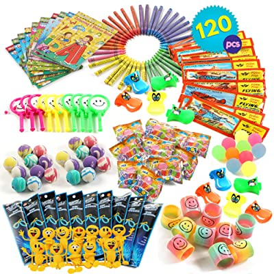 THE TWIDDLERS 120 Pcs Party Toy Assortment Bundle | Birthday Party Favor Toys | Pinata Fillers | Goody Bag Fillers | Bulk Game Prizes & Rewards | Indoor Activity Hours Play Entertainment for Kids: Toys & Games
