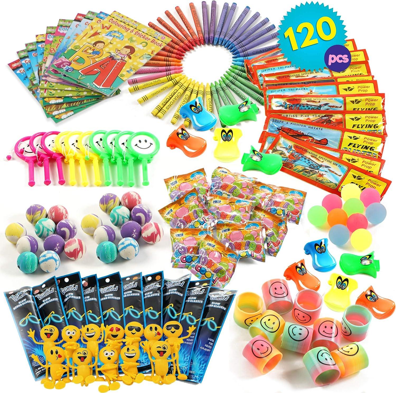 THE TWIDDLERS 120pcs Juguetes De Fiesta a Granel | Rellenar Piñatas De Cumpleaños Party Favours, Bolsas Surtido De Juguetes | Juguete de Interior para Niños, para Horas De Juego Y Entretenimiento