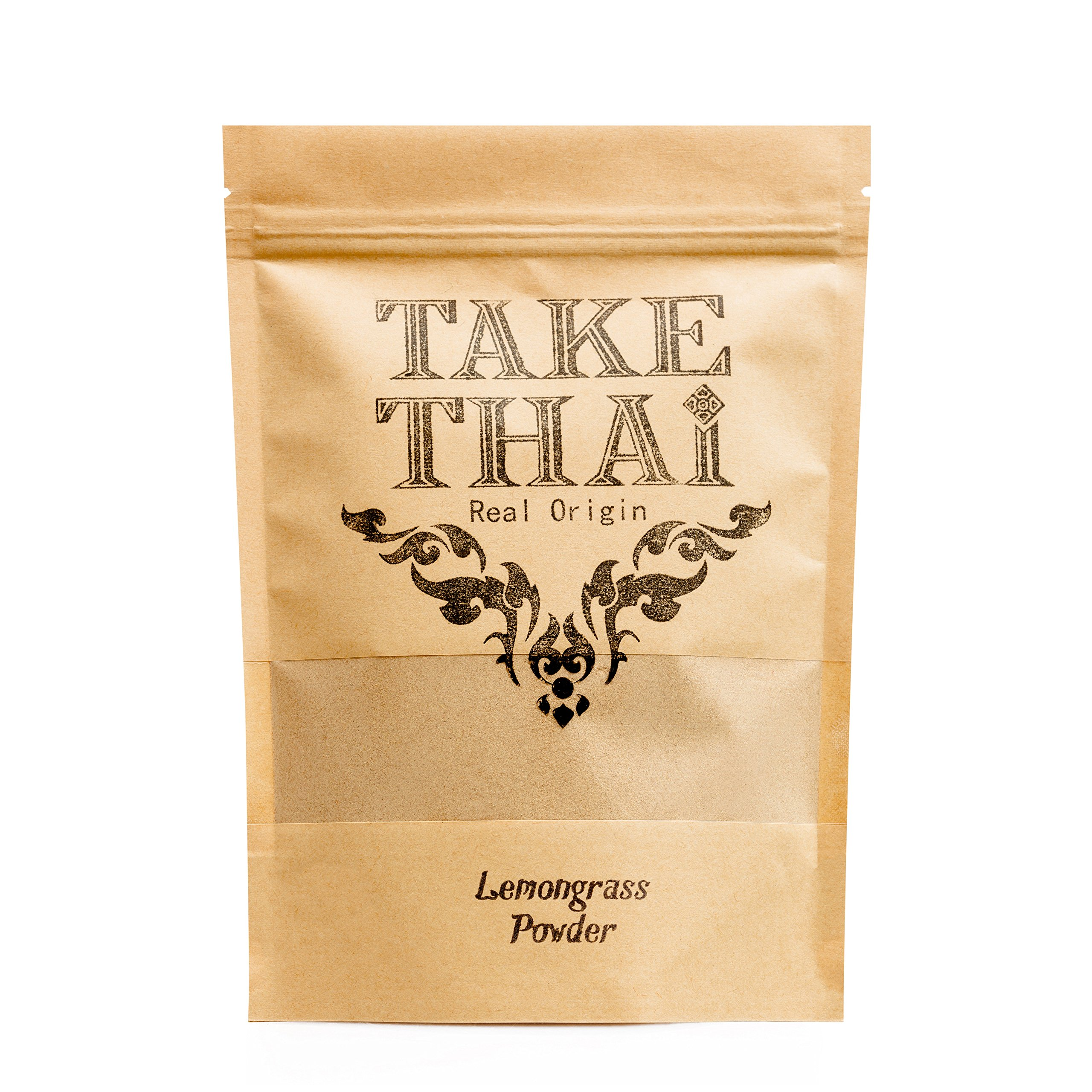Take Thai Real Origin : Lemongrass Powder 100% Pure Thai herb (50 Grams)