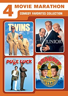 0866ae1269d 4 Movie Marathon  Comedy Favorites Collection (Twins   Junior   Pure Luck    Dragnet