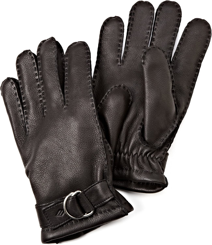 Joseph Abboud Mens Supple Deerskin Gloves with Melange Fleece Lining