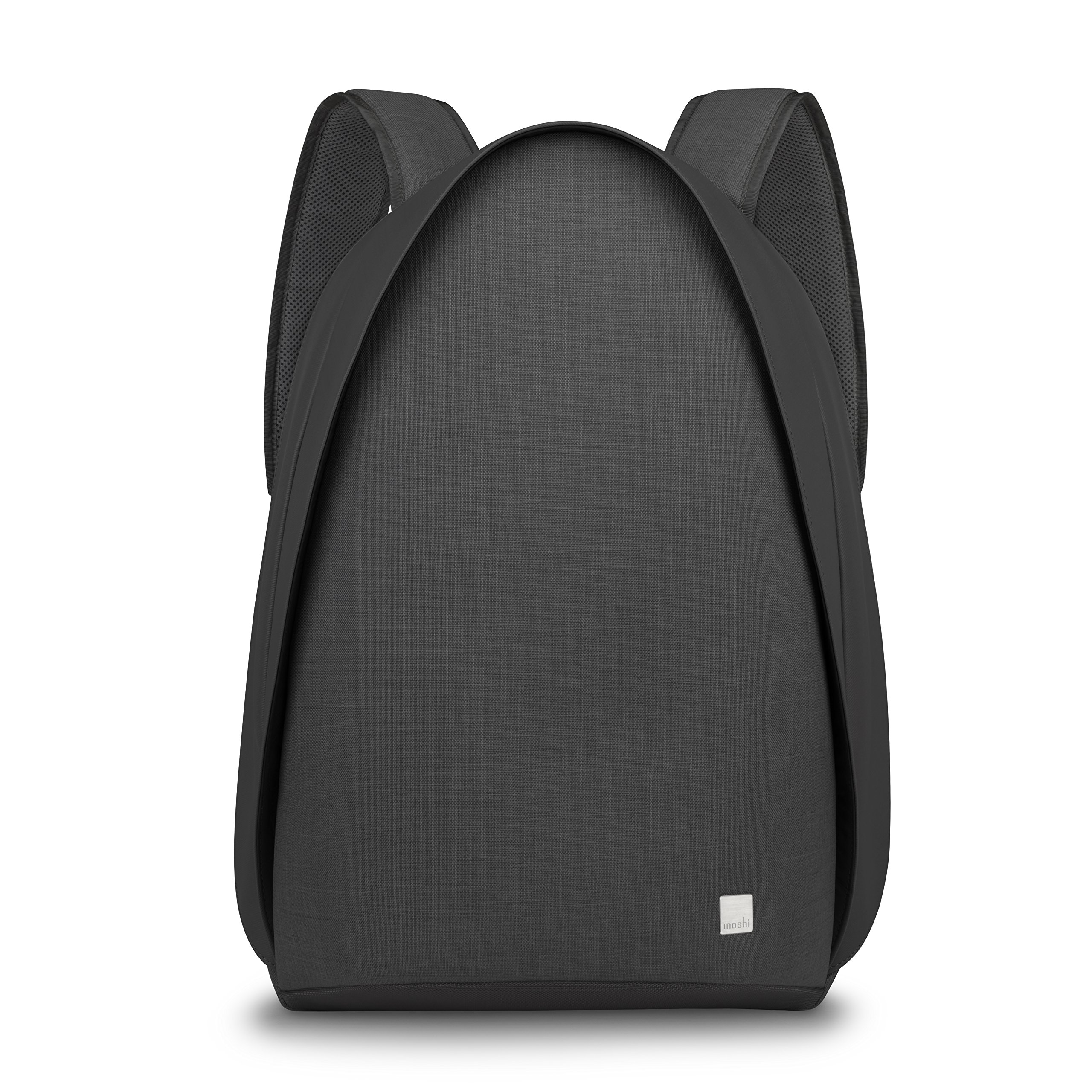 Moshi Tego anti-theft Backpack with USB Charging Port ,Water Resistant (Charcoal Black)