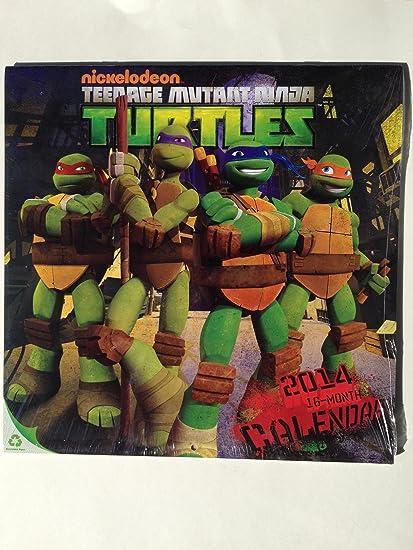 2014 Teenage Mutant Ninja Turtles 16 Month Wall Calendar 12 X 12 TMNT