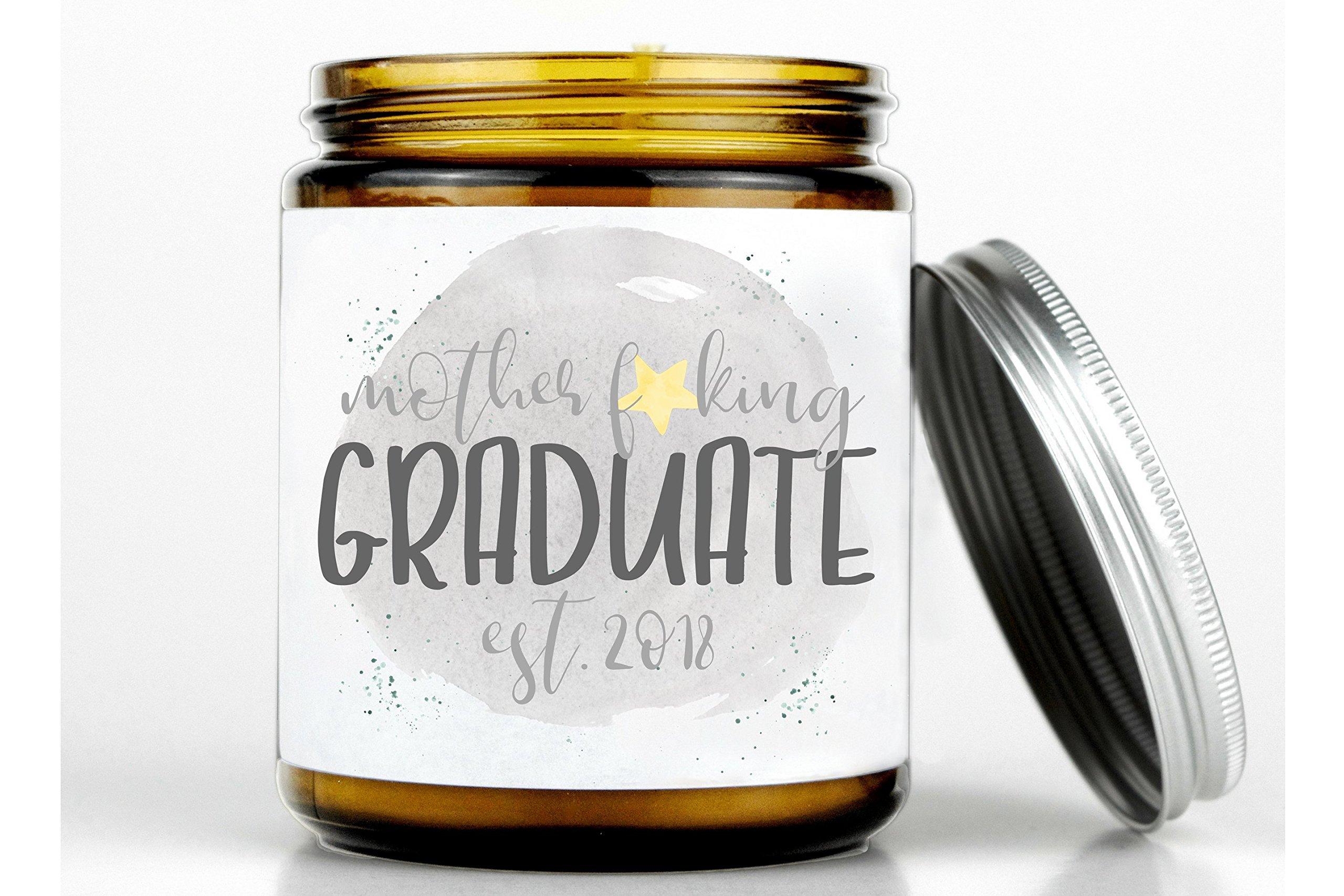 Mother fcking graduate established 2018 candle, graduation gift, college graduate, school graduation gift