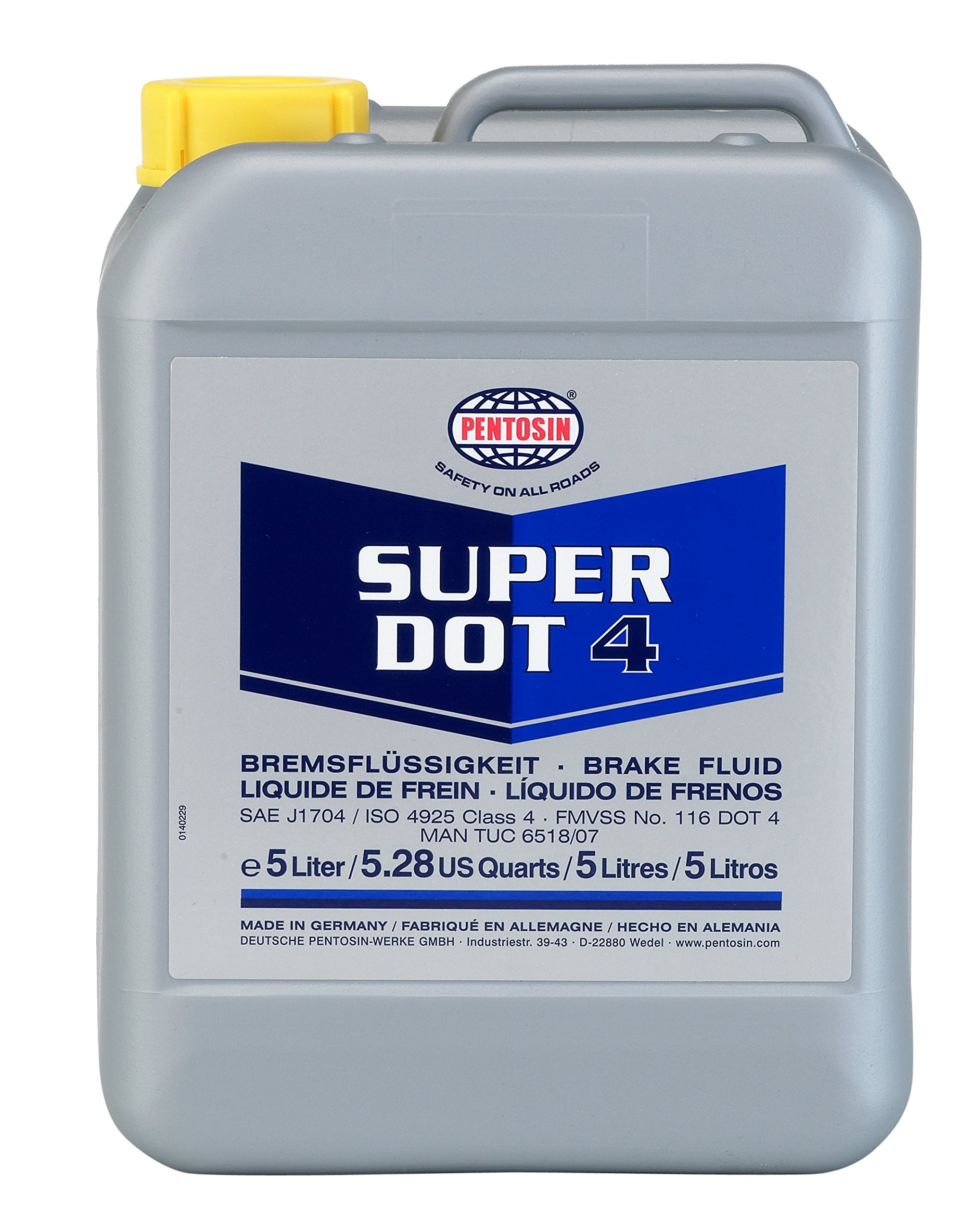 Pentosin 1204204-C Super Dot 4 Brake Fluid, 5 Liter (Case of 4 ) by CRP Automotive