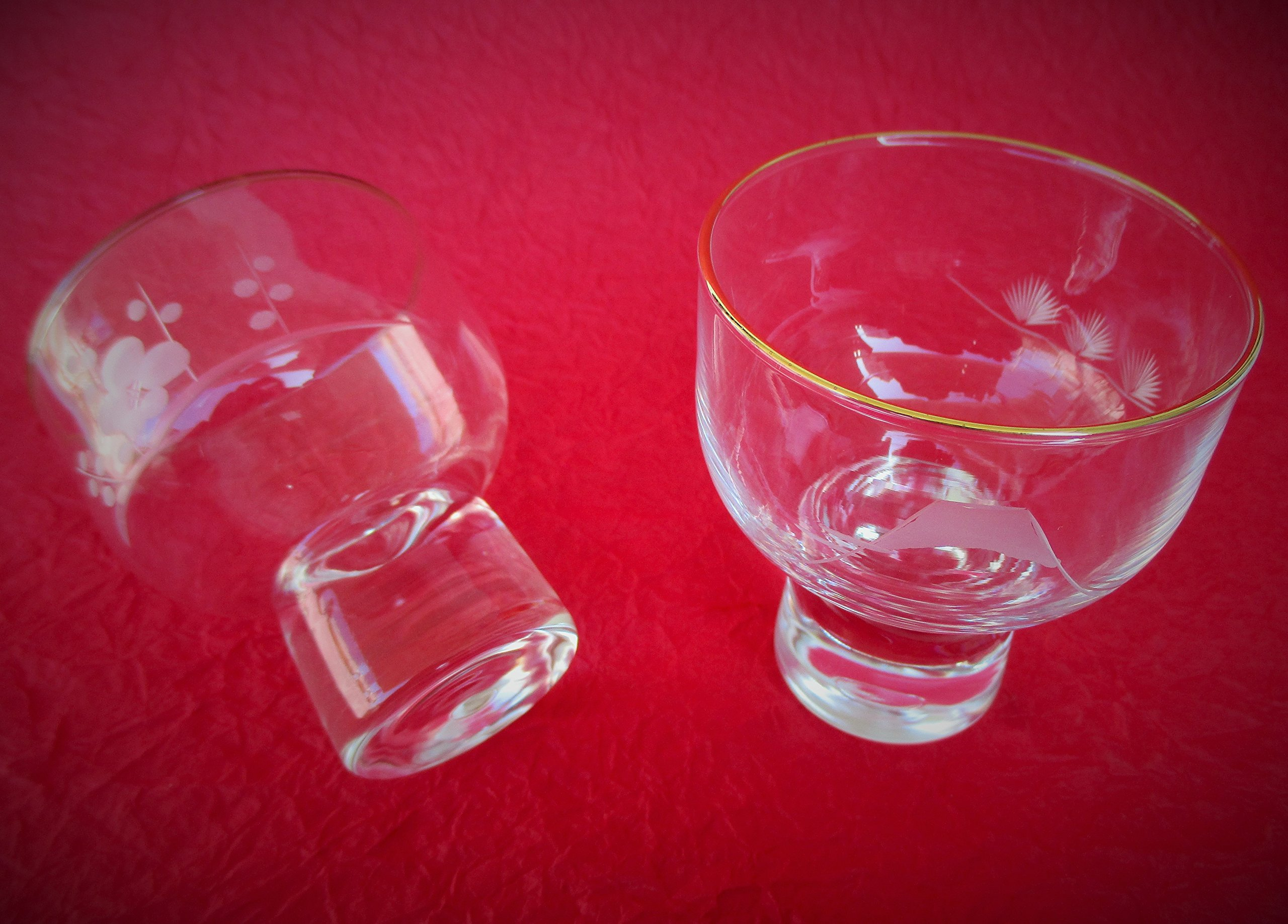 Collectible Japanese Sake Glass, ''KIRIKO'' Set,''SHOFUKUHAI''