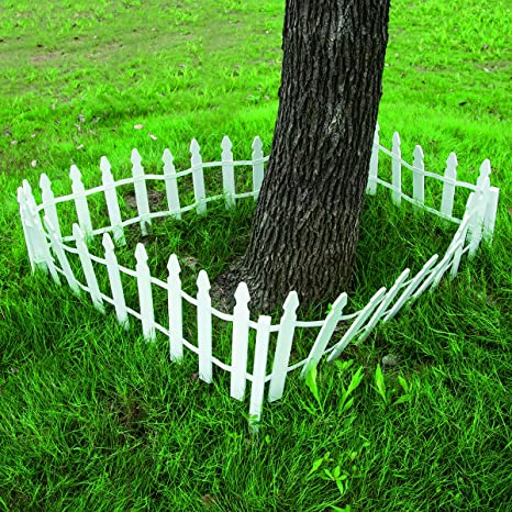 Giantex 12 FT Garden Fence Outdoor Patio Lawn Fencing Outdoor Low Garden  Border Edging Fences,