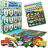 LIL ADVENTS Potty Time Adventures Potty Training Game - 14 Wood Block Toys, Chart, Activity Board, Stickers and Reward…