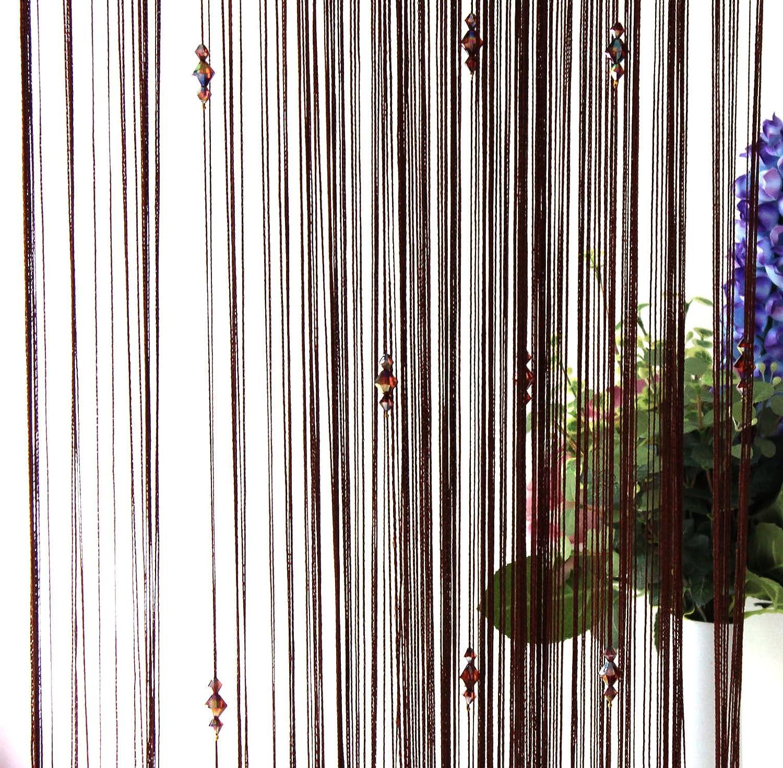 ZAIQUN Naranja Cortinas decorativas para puerta con borlas. 1 m x 2 m tela