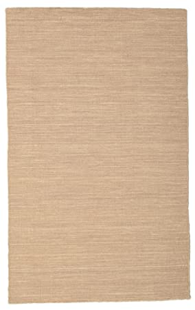 CarpetVista Tapis Kilim Loom - Beige/Marron Clair 100x160 Tapis ...