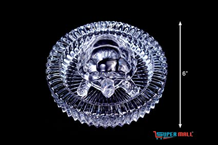 SUPERMALL Vastu Feng Shui Crystal Turtle with Plate for Good Luck, 5x5 Inches(Multicolour, Big-PM08)