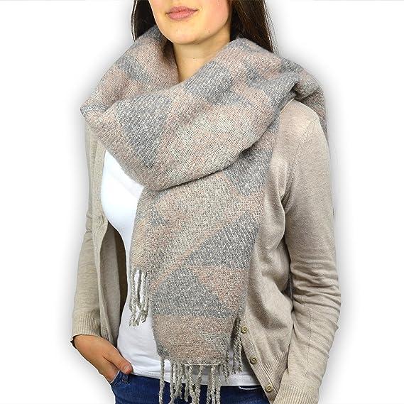 ParisLondonNewyork XXL foulard femme Vancouver de, fait de COTON, couleurs    rose rouge f44ee767564