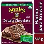 Annie´s Annie´s Organic Double Chocolate Brownie Mix, Doble Chocolate, 518 gramos