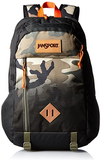 f02f3fc4a3 JanSport Fox Hole Laptop Backpack (Black Camo Fade)  Amazon.in  Bags ...