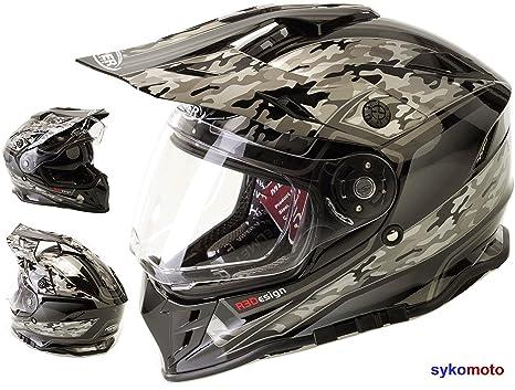 MOTOCROSS CASCO RX-V288 ADULTOS OFF ROAD VISERA DOBLE MOTO ENDURO ECE HOMOLOGADO ATV QUAD