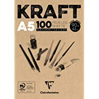 CLAIREFONTAINE Bloco de Papel Kraft 90G/M³, Craft, A5