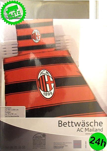 Bed Linen 140 X 200 Cm Duvet Cover Ac Milan Licensed Football Fan
