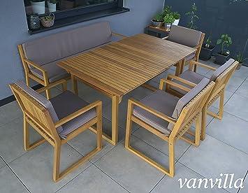 Amazon.de: vanvilla Gartenmöbel Set Holz Sitzgruppe Garten Garnitur ...