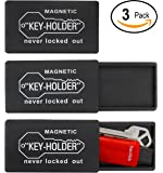 RAM-PRO 3-Pieces 3 Inch Plastic Hide-A-Key, Lock Box, Key-Holder, to Store a Spare Key for your Home, Storage, Office, Vehicle, with Strong Rear Magnetic Base