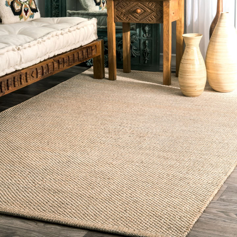 Amazon Com Nuloom Hand Woven Area Rug 8 6 X 11 6 Beige Furniture Decor