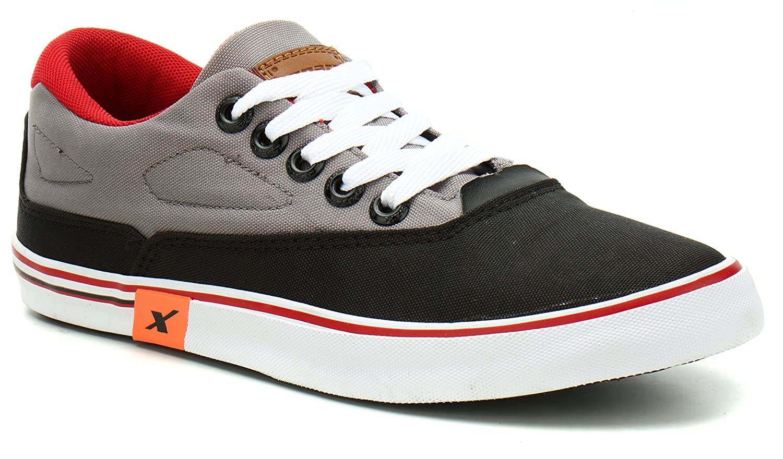 Sparx Men's Black Grey Sneakers-7 UK