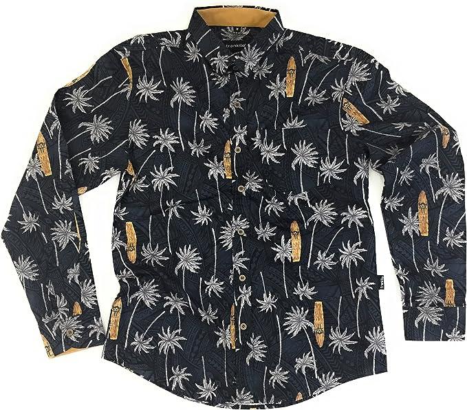 TRANKILO Camisa Manga Larga Surf & Palms Haiti. (XXL): Amazon.es: Ropa y accesorios