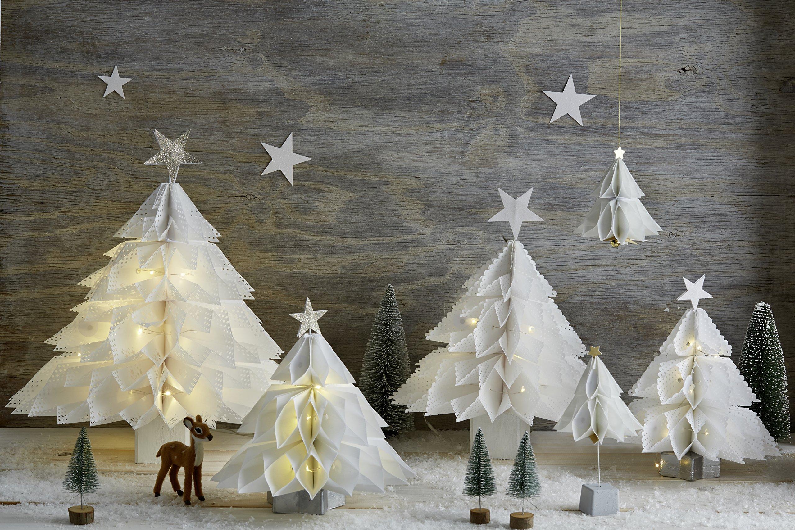 Weihnachtsdeko Verkaufen.Weihnachtsdeko Aus Papiertüten Engel Sterne Tannenbäume Amazon