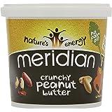 Meridian natürliche crunchy Erdnussbutter - ohne Zuckerzusatz und ohne Zusatz von Salz - 1kg