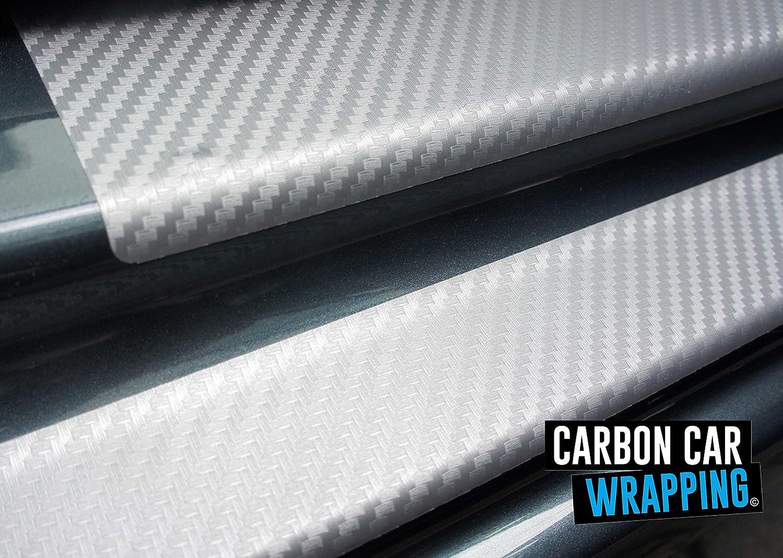 in 3D CARBON SILBER Folie CCW/© Ladekantenschutz passend Schutzfolie Einstiegsleisten SET RAKEL
