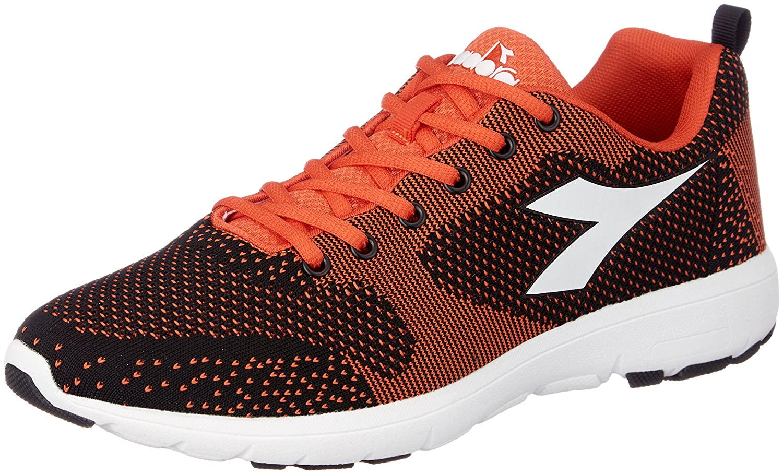 Diadora X Run Light, Zapatillas de Running para Hombre 44.5 EU|Negro (Nero Arancio Vibrante)