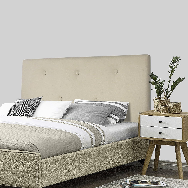 SERMAHOME- Cabecero Alicante tapizado Tela Color Beige. Medidas: 160 x 55 x 7 cm (Camas 135, 150 y 160 cm).: Amazon.es: Hogar