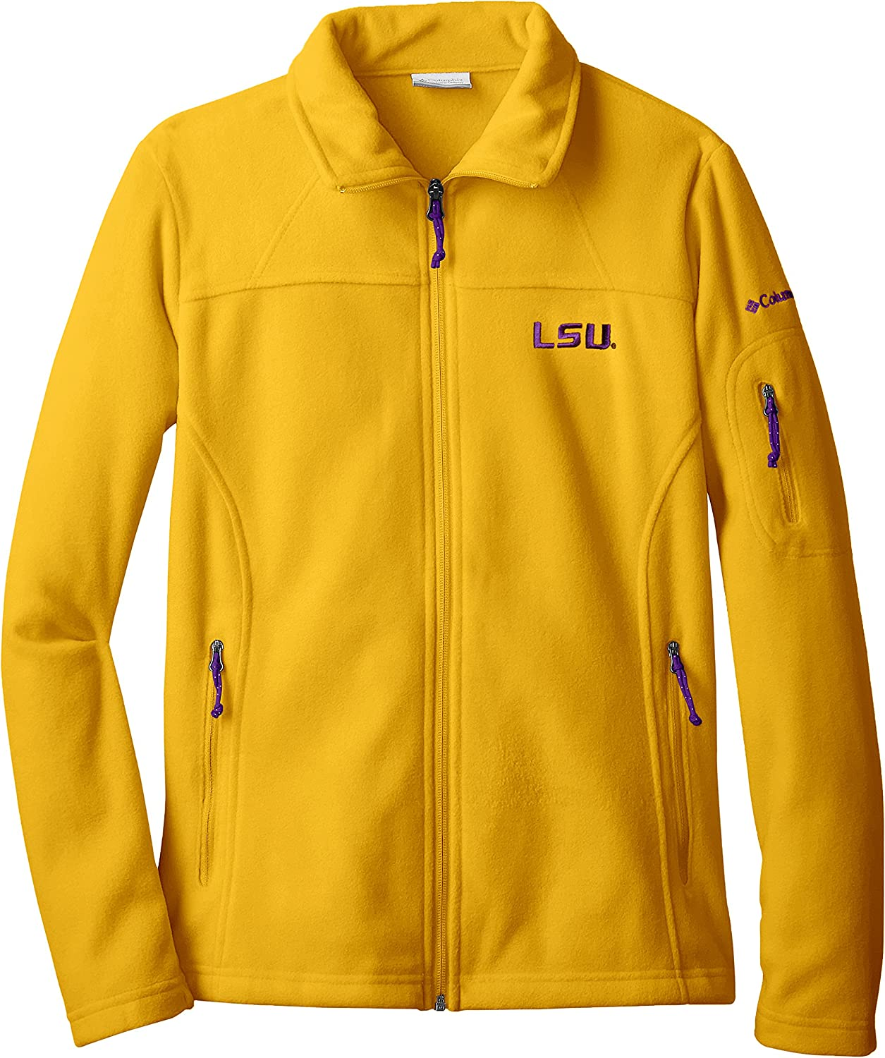 NCAA LSU Tigers Give and Go Full Zip Fleece Jacket