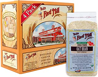product image for Bob's Red Mill Organic Oat Bran Hot Cereal, 18 Ounce Bags (Pack of 4)