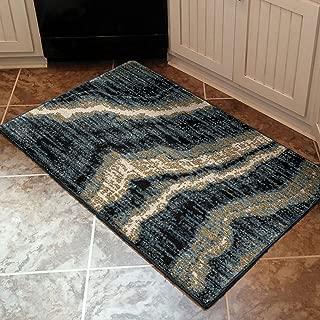 "product image for Orian Impressionist Stone Area Rug, 1'8"" x 2'10"", Indigo"