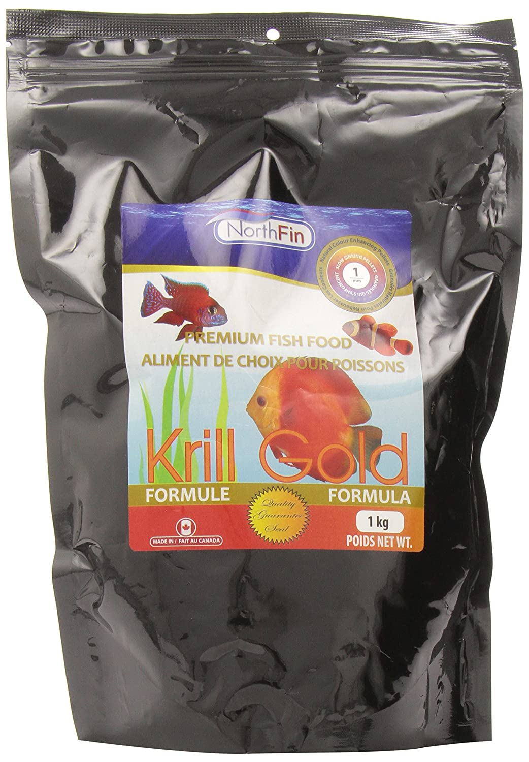 Northfin Food Krill gold 1mm Pellet 1kg Package