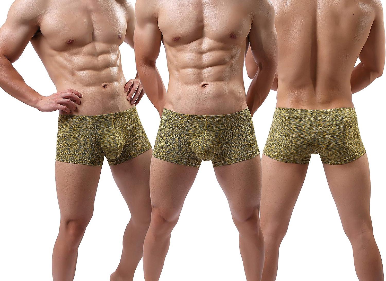 MAKEIIT Men/'s Underwear Boxer Briefs Breathable Bulge Pouch Underpants Low Rise