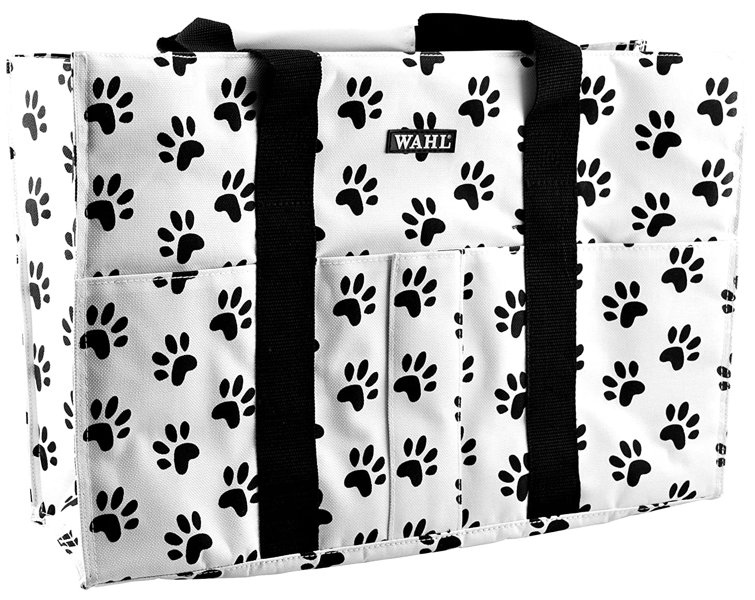Black and White Paw Print 18-Inch Tote Bag Wahl Professional Animal Large Paw Print Tote Bag  97782